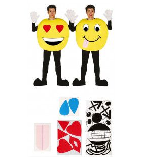 Emoticon Met Wisselende Stemmingen Man Kostuum