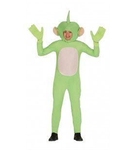 Geinige Groene Alien Man Kostuum