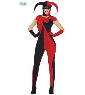 Strakke Jolige Joker Vrouw Kostuum