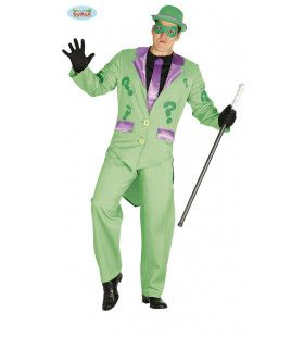 Raadselachtige Riddler Batman Schurk Kostuum
