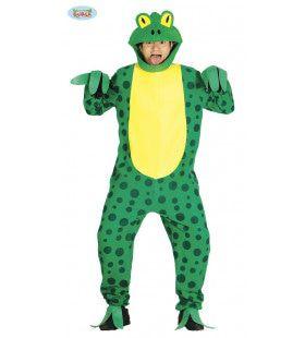 Groen Gele Kikker Max Man Kostuum