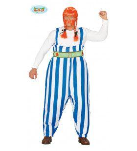 Onoverwinnelijke Dikke Fransman Kostuum