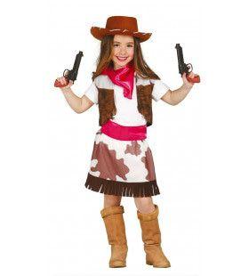 Pief Paf Cowgirl Meisje Kostuum