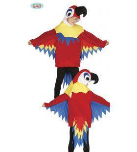 Tropisch Regenwoud Papegaai Kostuum