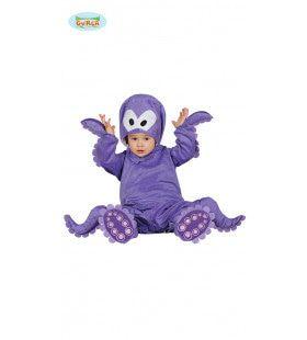 Parmantig Paars Octopus Kostuum