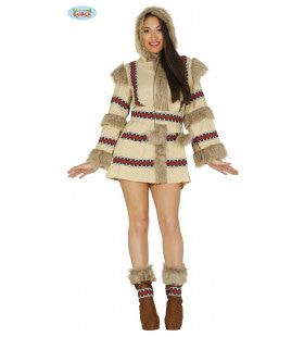 Koude Kont Eskimo Vrouw Kostuum