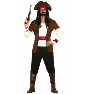 Zeven Hoge Zeeen Piraat Man Kostuum
