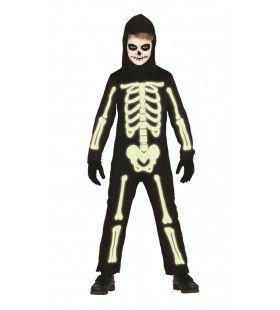 Glow In The Dark Botten Jongen Kostuum