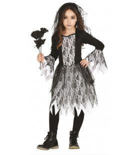Grijze Grauwe Geest Meisje Kostuum