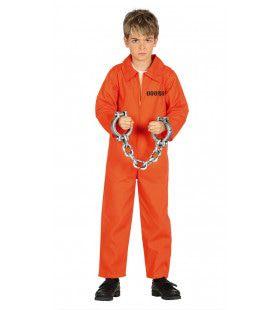 Gesloten Inrichting Gevangene Jongen Kostuum