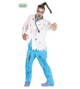 Dokter Bloed Zombie Man Kostuum