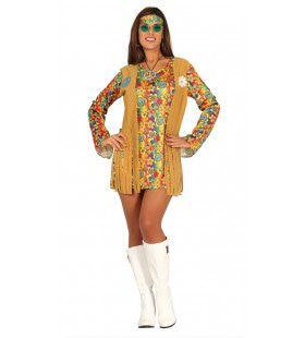 Hallucinerend Korte Hippie Jurk Vrouw