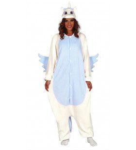 Fantastische Eenhoorn Pyjama Blauw Kostuum