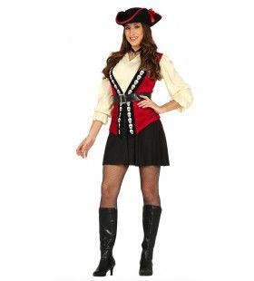 Doodshoofd Pirate Vrouw Kostuum