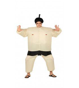 Opblaasbare Japanse Sumo Worstelaar Sato Man Kostuum
