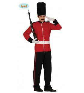Engelse Bontmuts Soldaat Man Kostuum