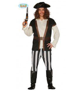 Onverschrokken Schatjager Piraat Man Kostuum