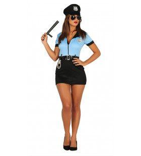 Handjes Thuis Agente Vrouw Kostuum