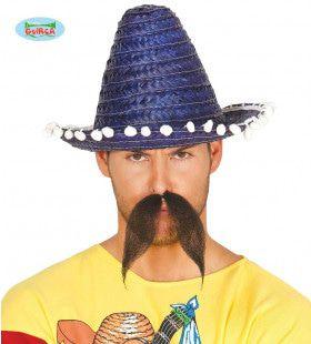 Kleine Sombrero Blauw Met Bolletjes Felipe