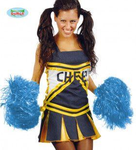 Pompon Cheerleader Blauw