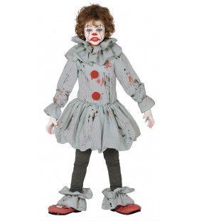 Niet Leuke Bloederige Clown Kostuum