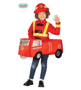 Brandweer Wagen Klaar Om Uit Te Rukken Kostuum