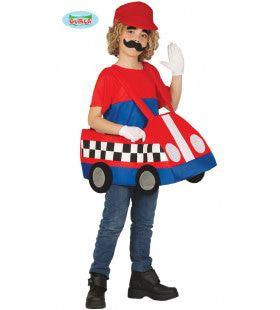 Rijden In Crazy Cars Mario Kind Kostuum
