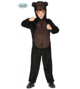 Brede Borstkas Gorilla Congo Kind Kostuum