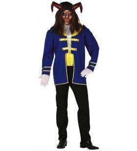 Blauw Beest Van Belle En Het Sprookje Man Kostuum