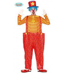 Confetti Regen Circus Clown Man Kostuum