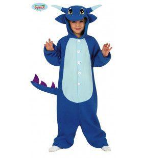 Blauwe Vuurspuwende Draak Kind Kind Kostuum