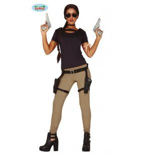 Schietgrage Lara Raider Computerspel Vrouw Kostuum