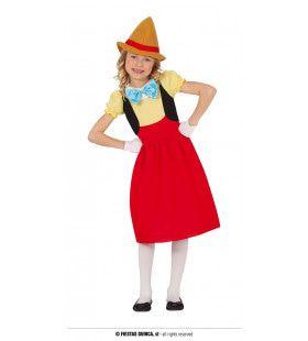 Houten Handpop Komt Tot Leven Meisje Kostuum