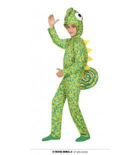 Gecamoufleerde Groene Kameleon Kind Kostuum