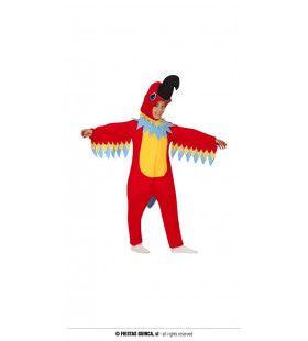 Rode Papegaai Croky Kind Kostuum