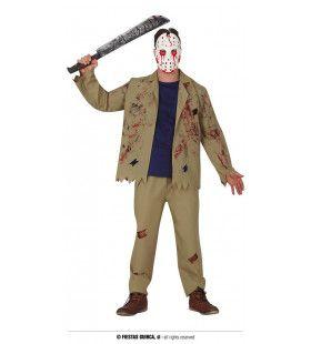 Moordende Hockey Speler Man Kostuum