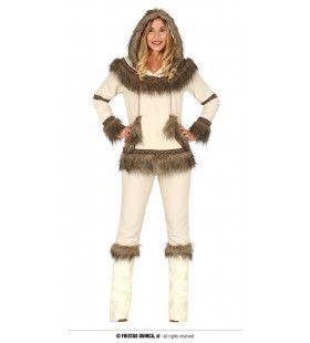 Goed Vermomd In De Sneeuw Inuit Vrouw Kostuum