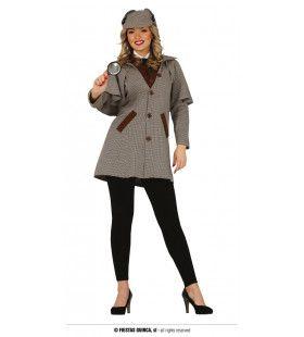 Engelse Detective Clueless Vrouw Kostuum