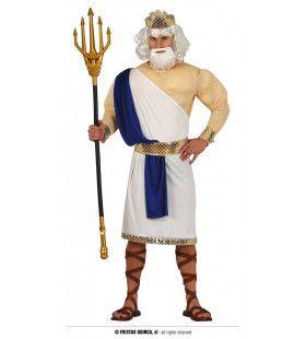 Poseidon Heerser Van De Diepe Zee Man Kostuum