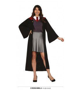 Student Van De Rode Tovenaarsgriffel Vrouw Kostuum