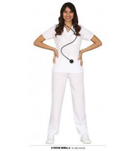 Witte Verpleegster Kleding Vrouw Kostuum