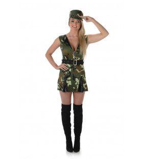 Sexy Camouflage Sergeant Vrouw Kostuum