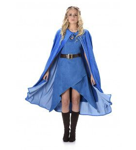 Keltische Krijger Koningin Middeleeuwen Vrouw Kostuum