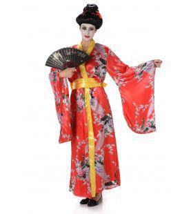 Geisha Eeuwig Bloeiende Lotus Bloem Vrouw Kostuum