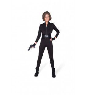 Sexy Maar Spijkerharde Huurmoordenaar Vrouw Kostuum