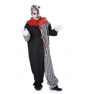 Pierrot Lach En Een Traan Clown Man Kostuum