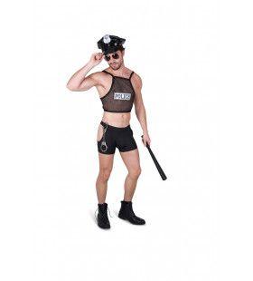 Hele Stoute Politie Agent Man Kostuum