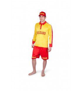 Lifeguard Strandwacht Noordzee Strand Man Kostuum