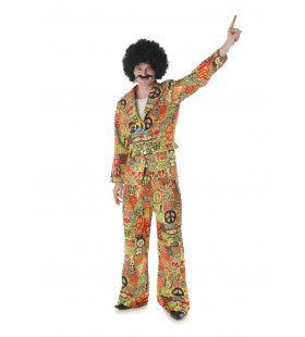 Nooit Meer Oorlog Peace Hippie Man Kostuum