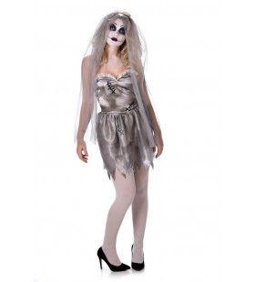 Stevige Afterparty Bruid Vrouw Kostuum